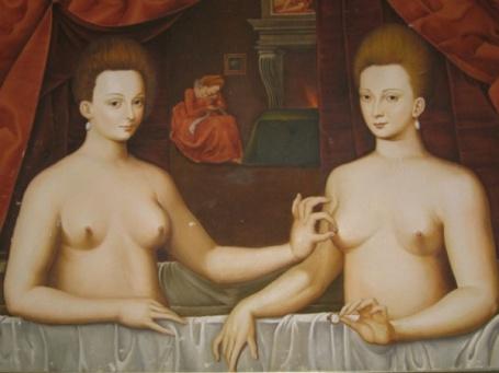 Gabrielle d' Estrées and Sister
